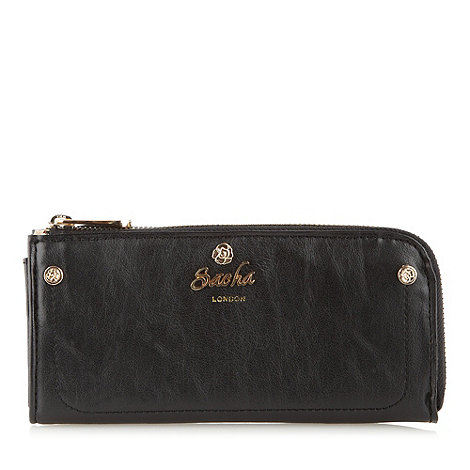 Sacha - Black large zip around purse