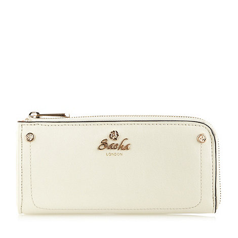 Sacha - Pale grey large zip around purse