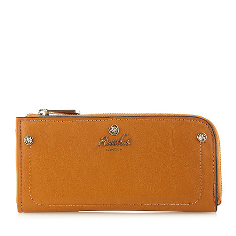 Sacha - Tan large zip around purse