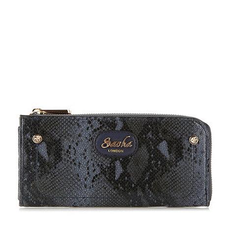 Sacha - Navy snake print zip purse
