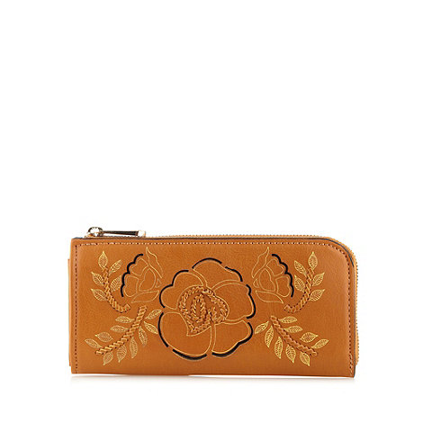 Sacha - Tan large cutout flower purse
