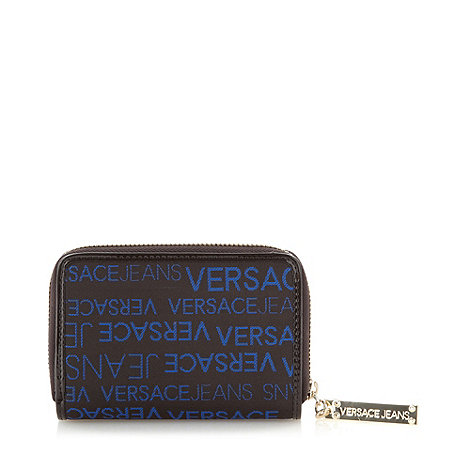 Versace Jeans - Blue stitch zip logo purse