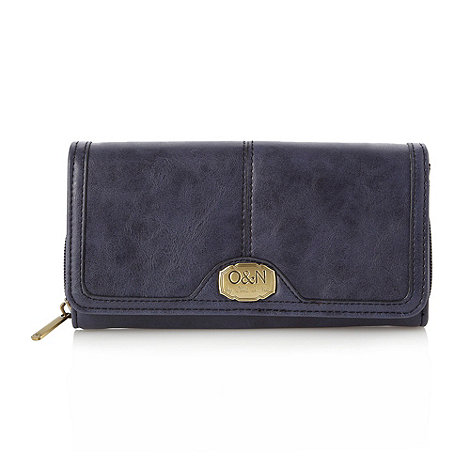Ollie & Nic - Navy large flapover purse