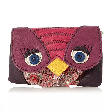 Ollie & Nic - Pink applique bird coin purse