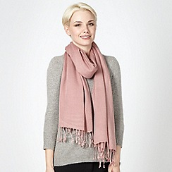 Bailey & Quinn - Rose silk and cashmere blend pashminetta