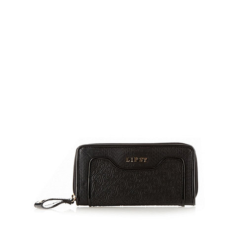 Lipsy - Black logo embossed purse