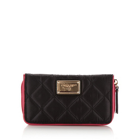 Red Herring - Black large quilted purse