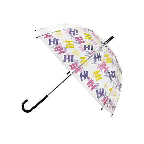 H! by Henry Holland - Designer pink clear logo umbrella