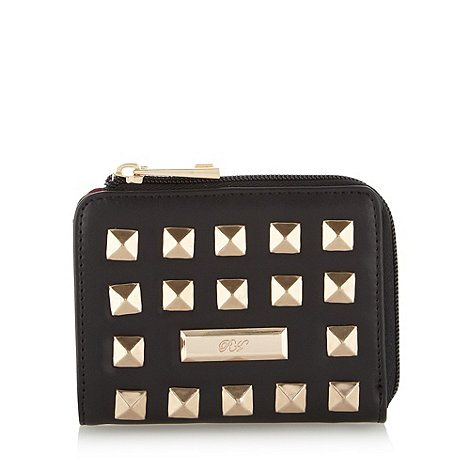 Red Herring - Black pyramid studded purse