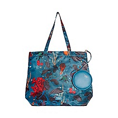 Fiorelli - Blue emma nylon foldable shopper bag