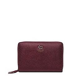 Radley - Wine ashby road medium zip around matinee purse