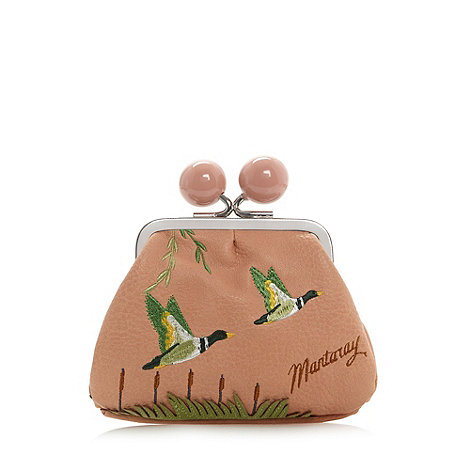 Mantaray - Light pink embroidered ducks coin purse