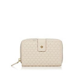 RJR.John Rocha - Designer cream leather tab detail purse