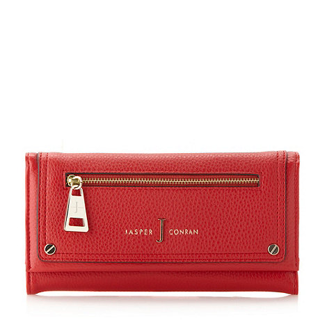 J by Jasper Conran - Designer red zip front flap over purse
