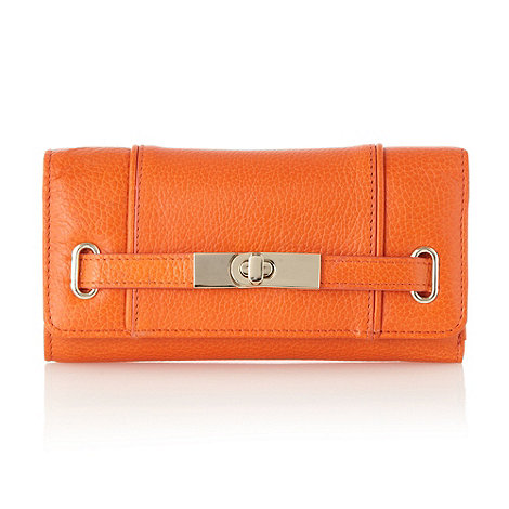 J by Jasper Conran - Designer orange leather belted purse