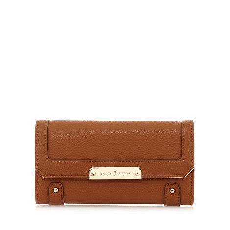 J by Jasper Conran - Designer tan stud flapover purse