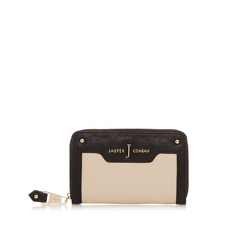 J by Jasper Conran - Designer black two tone zip around purse