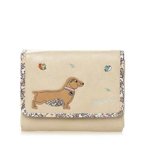 Mantaray - Natural bird and dog medium purse