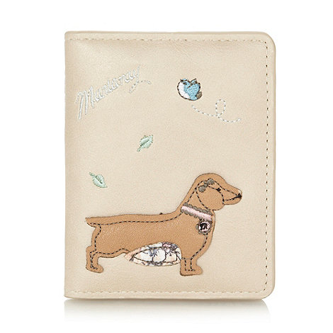 Mantaray - Natural applique dog card holder