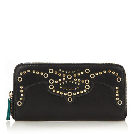 Butterfly by Matthew Williamson - Designer black studded zip purse