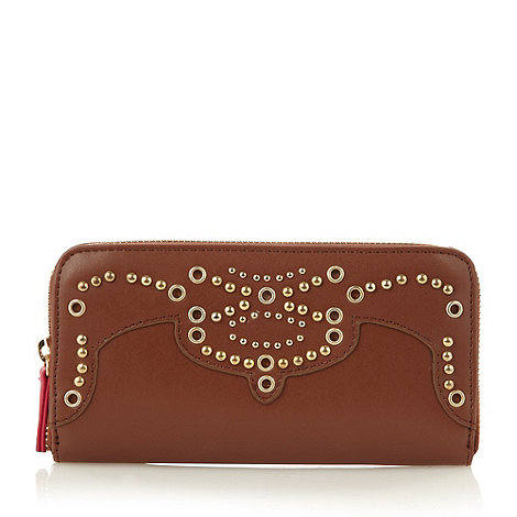 Butterfly by Matthew Williamson - Designer tan studded zip purse