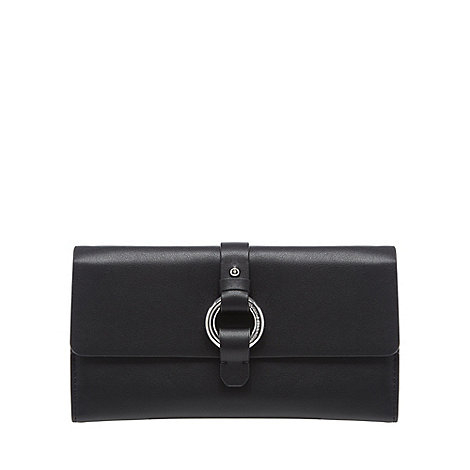 The Collection - Black leather kite flap over purse