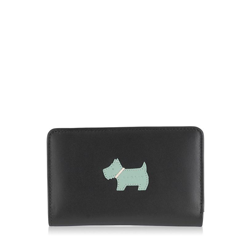 Radley Black medium leather 'heritage dog' purse - One Size - Purses (8661149 80941AXI) photo
