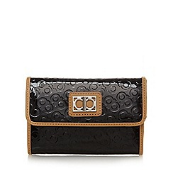 The Collection - Black debossed bow patent purse