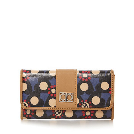 The Collection - Blue heart and spot printed flap over purse