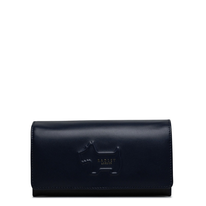 Radley Large leather 'Shadow' flapover matinee purse - One Size - Purses - navy (8662404 10484) photo