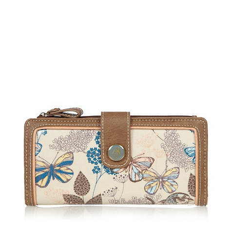 Mantaray - Natural bird and butterfly large flap over purse