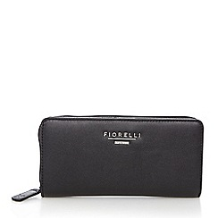 Fiorelli - Black large zip around purse