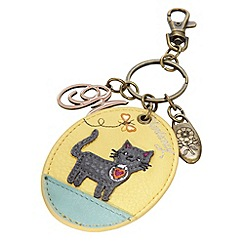 Mantaray - Yellow applique kitten keyring