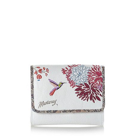 Mantaray - White hummingbird small flapover purse