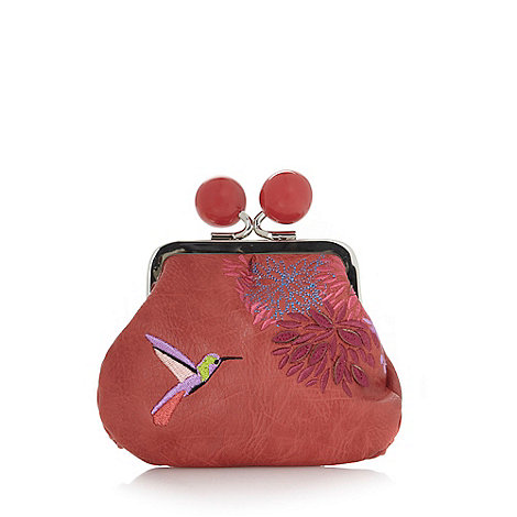 Mantaray - Dark peach hummingbird coin purse