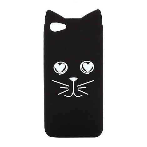 H! by Henry Holland - Designer black cat face iPhone case