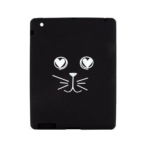 H! by Henry Holland - Designer black rubber cat face iPad case