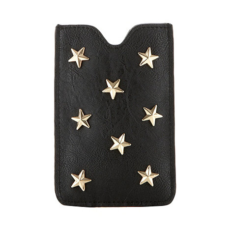 Red Herring - Black star studded phone case