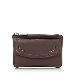 Bailey & Quinn - Lilac leather 'Teddington' flap over purse