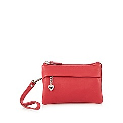 Red Herring - Red heart wristlet bag