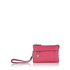 Red Herring - Pink soft wristlet bag