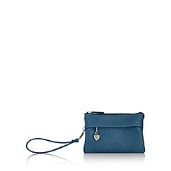 Red Herring - Dark turquoise soft wristlet bag