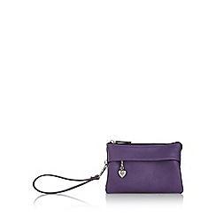 Red Herring - Purple soft wristlet bag