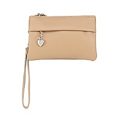 Red Herring - Tan three compartment wristlet bag