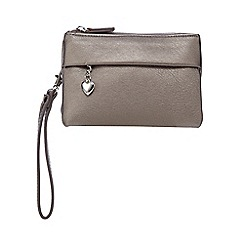 Red Herring - Metallic three compartment wristlet bag