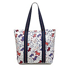 Radley - Natural speckle dog large zip-top tote bag