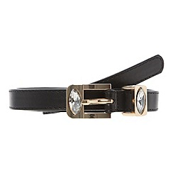 Red Herring - Black diamante keeper and buckle belt