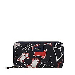 Radley - Navy speckle dog large zip around matinee purse