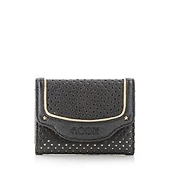 Floozie by Frost French - Black star punched medium flapover purse