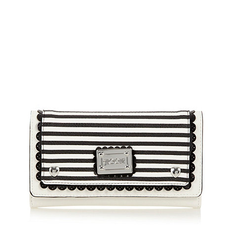 Floozie by Frost French - Black nautical stripe flapover purse